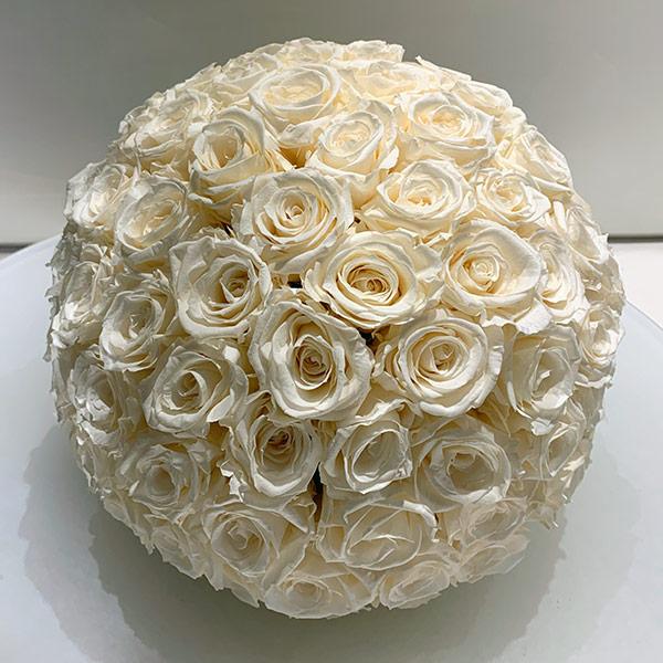 Ball aus cremefarbenen Rosen